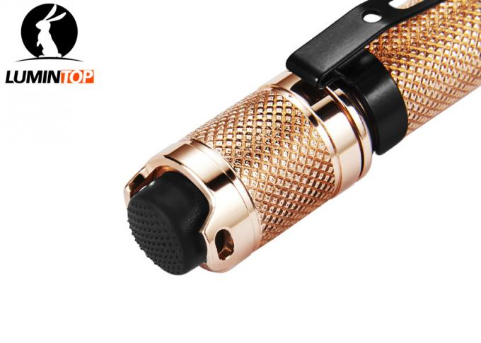 EDC Lumintop Copper Tool AAA Flashlight , Mini LED Powerful Pocket Torch