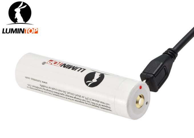 Rechargeable Lumintop Lm34c Battery , 3400mAh 18650 Lithium Rechargeable Battery