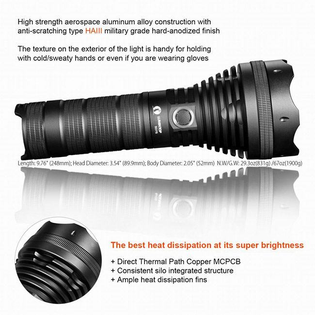 Portable Hunting LED Flashlight With USB Dischargeable Port Car Charger