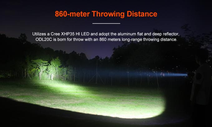 5 Output Levels High Lumen LED Flashlight  With Anti - Reflective Coating