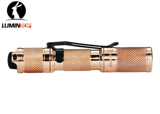 China EDC Lumintop Copper Tool AAA Flashlight , Mini LED Powerful Pocket Torch supplier