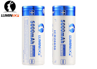 China 3.7V 5000mAh LED Torch Rechargeable Batteries , 26650 Lithium Rechargeable Battery supplier
